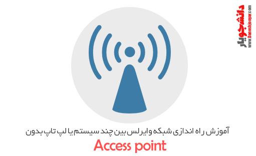 دانلود فیلم آموزش راه اندازی شبکه وایرلس بین چند سیستم یا لپ تاپ بدون accesspoint