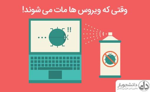 چگونه خودمان ویروس ها را به صورت دستی از بین ببریم؟